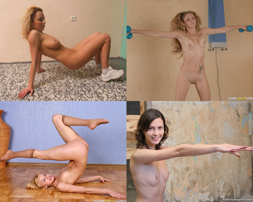 Nude aerobic exercises