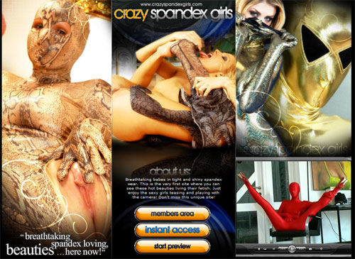Crazy Spandex Girls main page