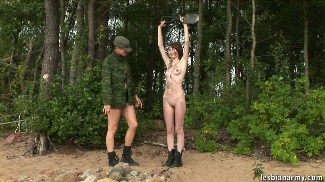 ... her unceremoniously in this free LesbianArmy.com photo gallery: www.nudesportsblog.com/free-galleries/nude-army-girl-straponed-for...