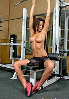 horny girl does nude fitness
