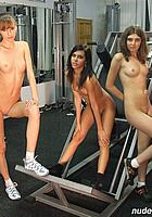 naked girls in gym
