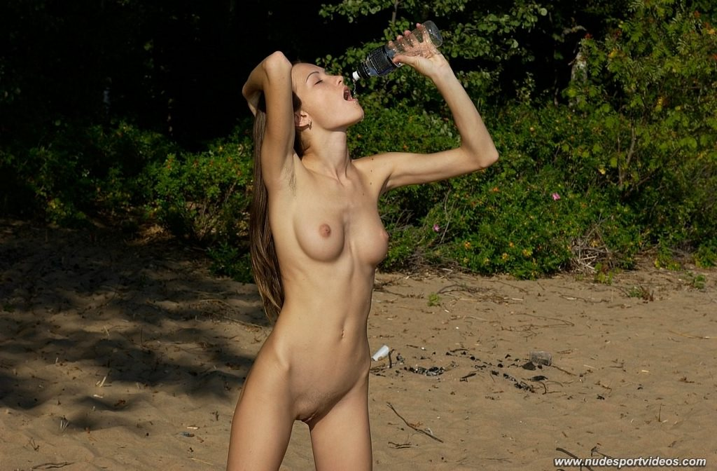 Nude woman water naked girl