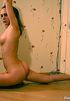 naked girl stretching