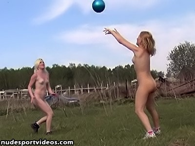 Amalia And Kristina Play The Volleyball Nude On Ground Girls