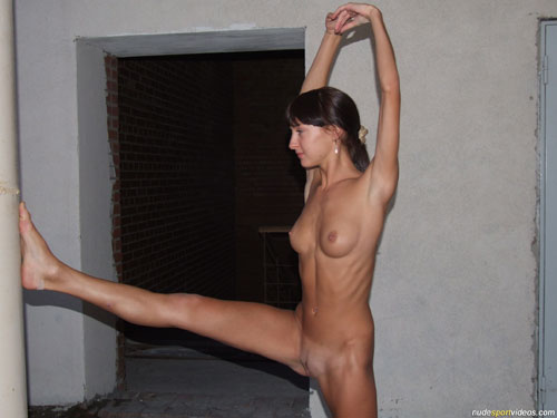 Naked standing hamstring stretches