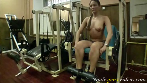Leg extension nude exercises