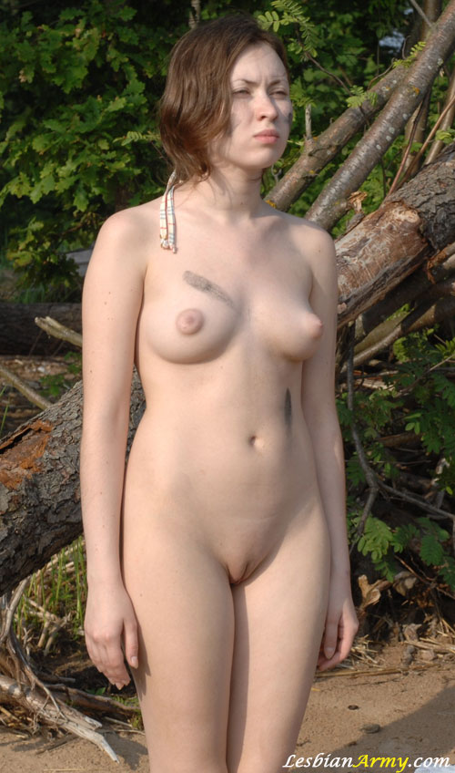 Nude Military Babe Tatyana At Outdoor Duty