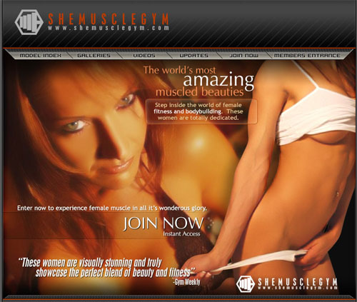 She Muscle Gym entrance page